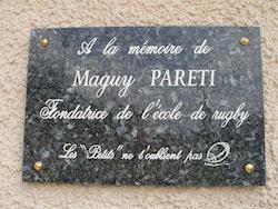 Plaque pour Maguy.