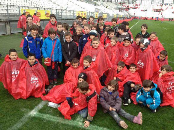 École de Rugby - Nous sommes au stade des Alpes.