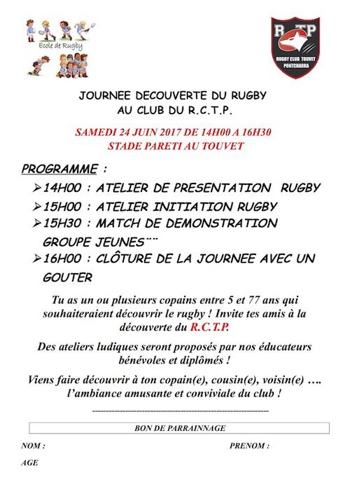 Affiche Journée découverte du Rugby