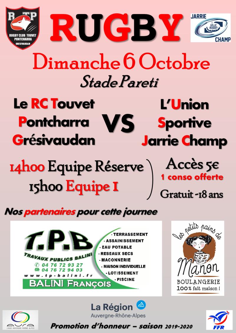 Affiche RCTPG - USJC